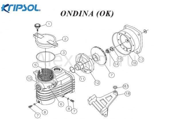 Насос ( 7 м3/ч 220В) Kripsol Ondina ОK-33
