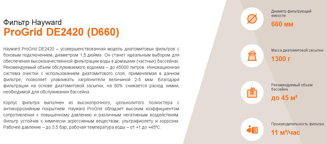 хар-ки DE2420 D660