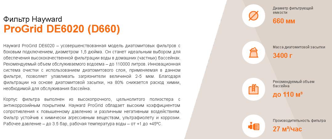 хар-ки DE6020 D660