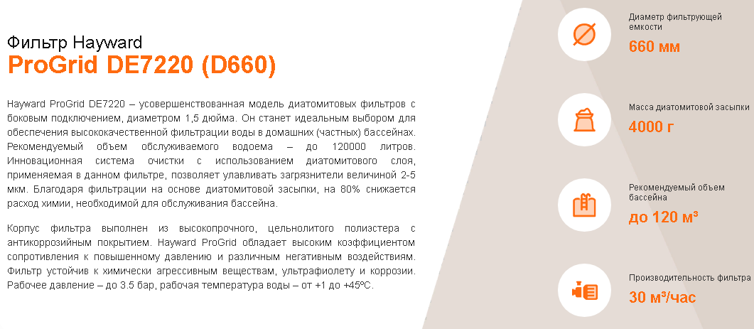 хар-ки DE7220 D660