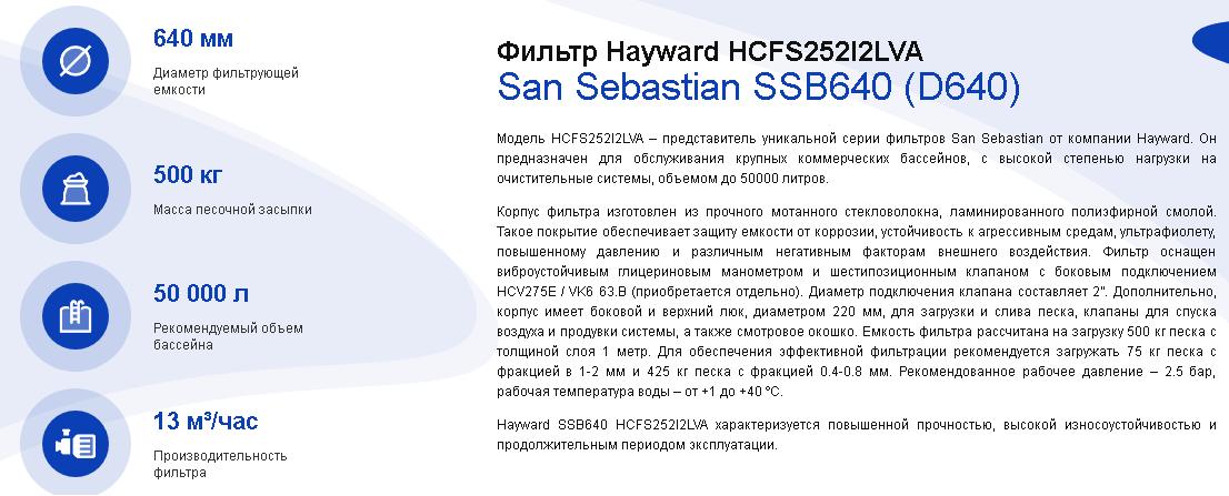 хар-ки SSB640
